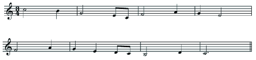 A simple melody in the key of C major.