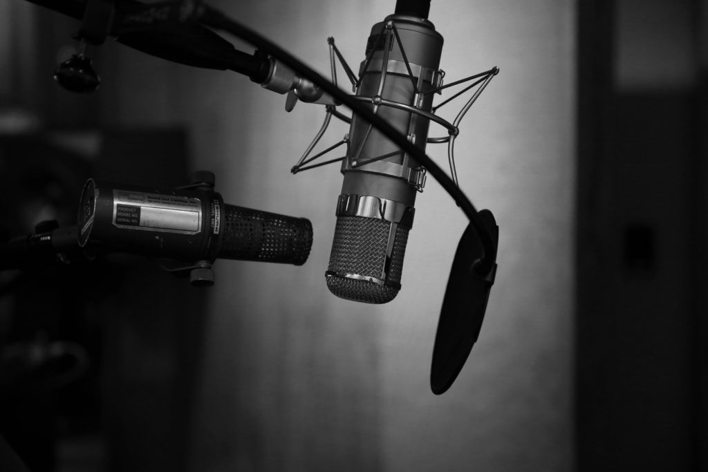 A recording microphone