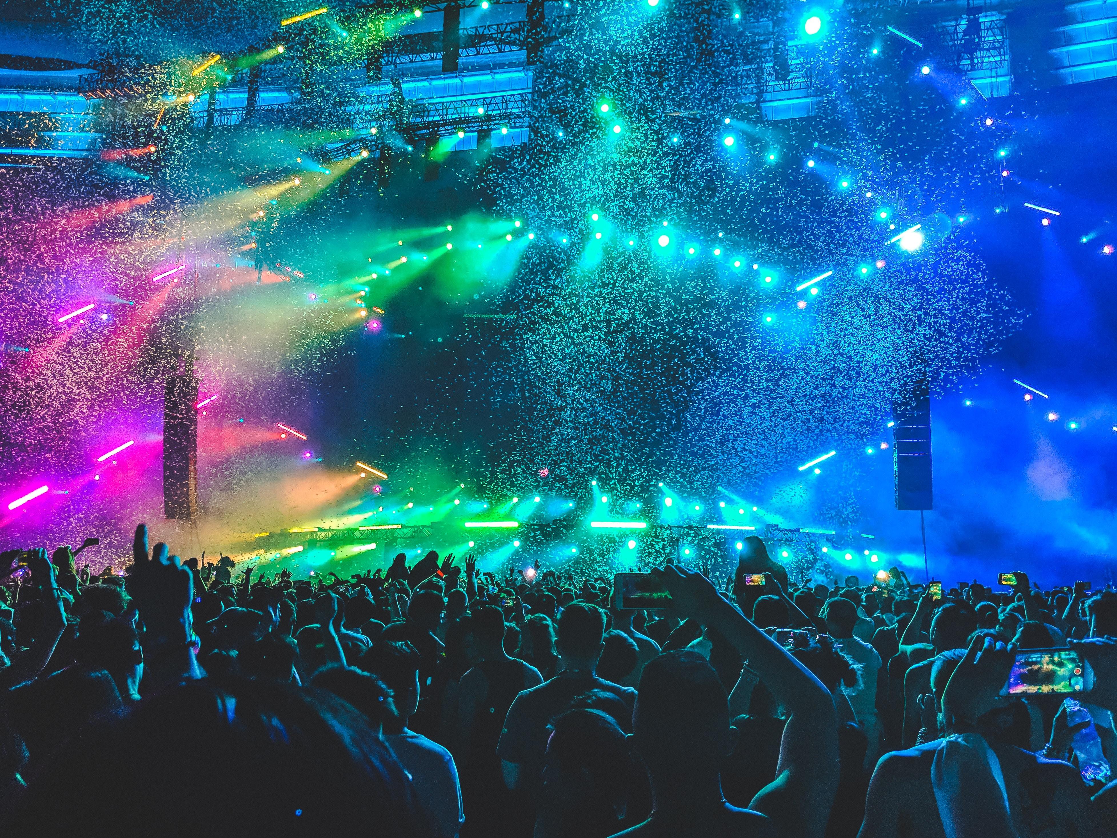 An electronic dance music (EDM) concert.