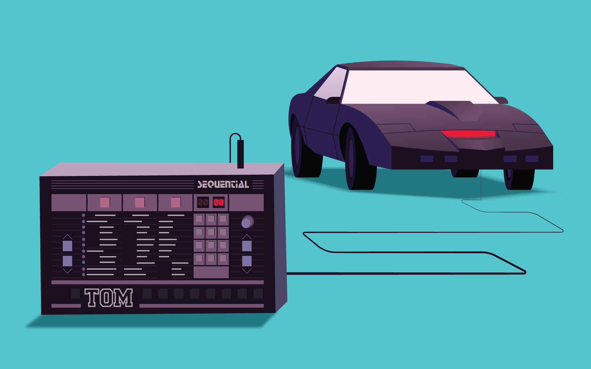 Sequential TOM Drum Machine (and Knight Rider) and MIDI Implementation