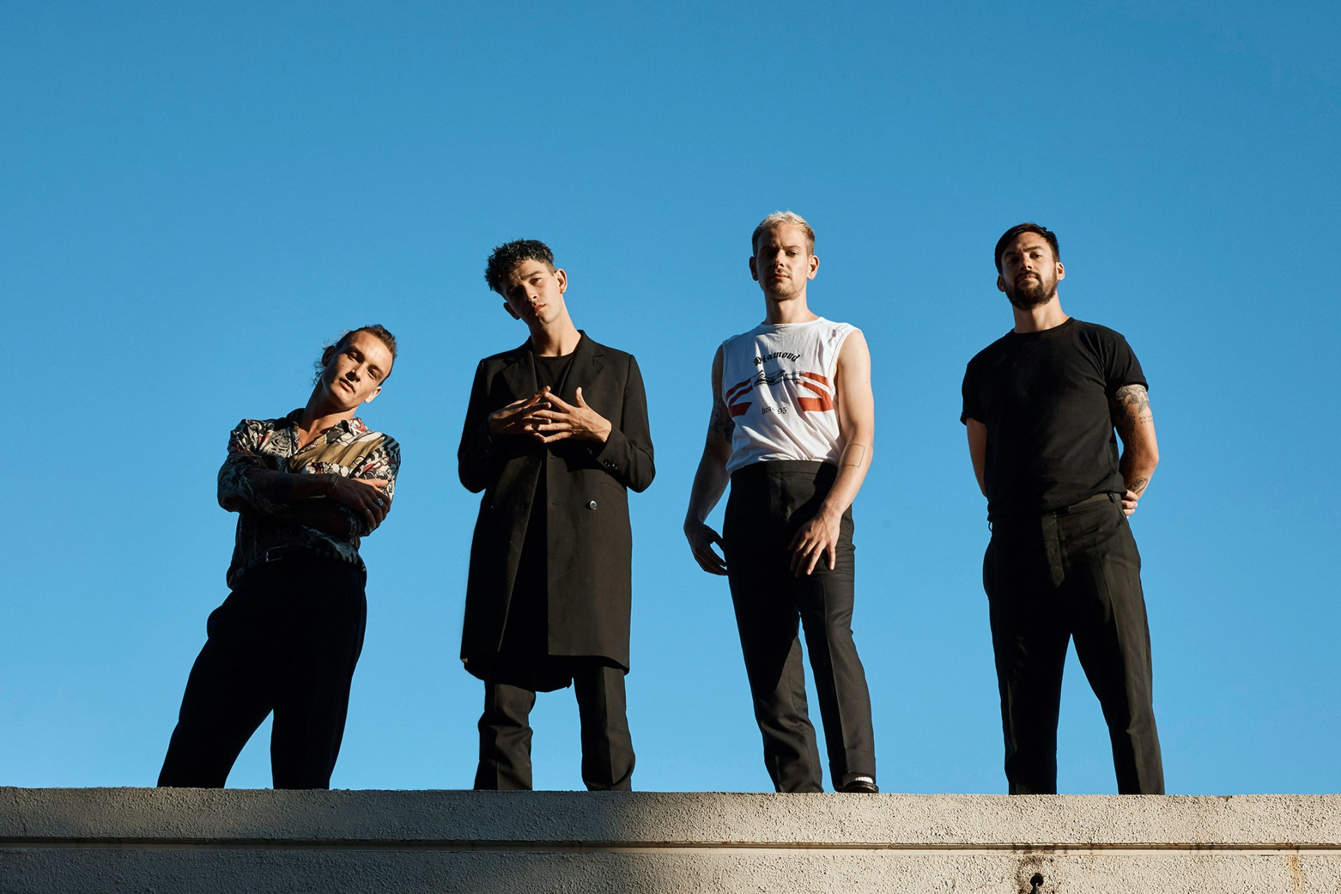 The four members of The 1975 band.
