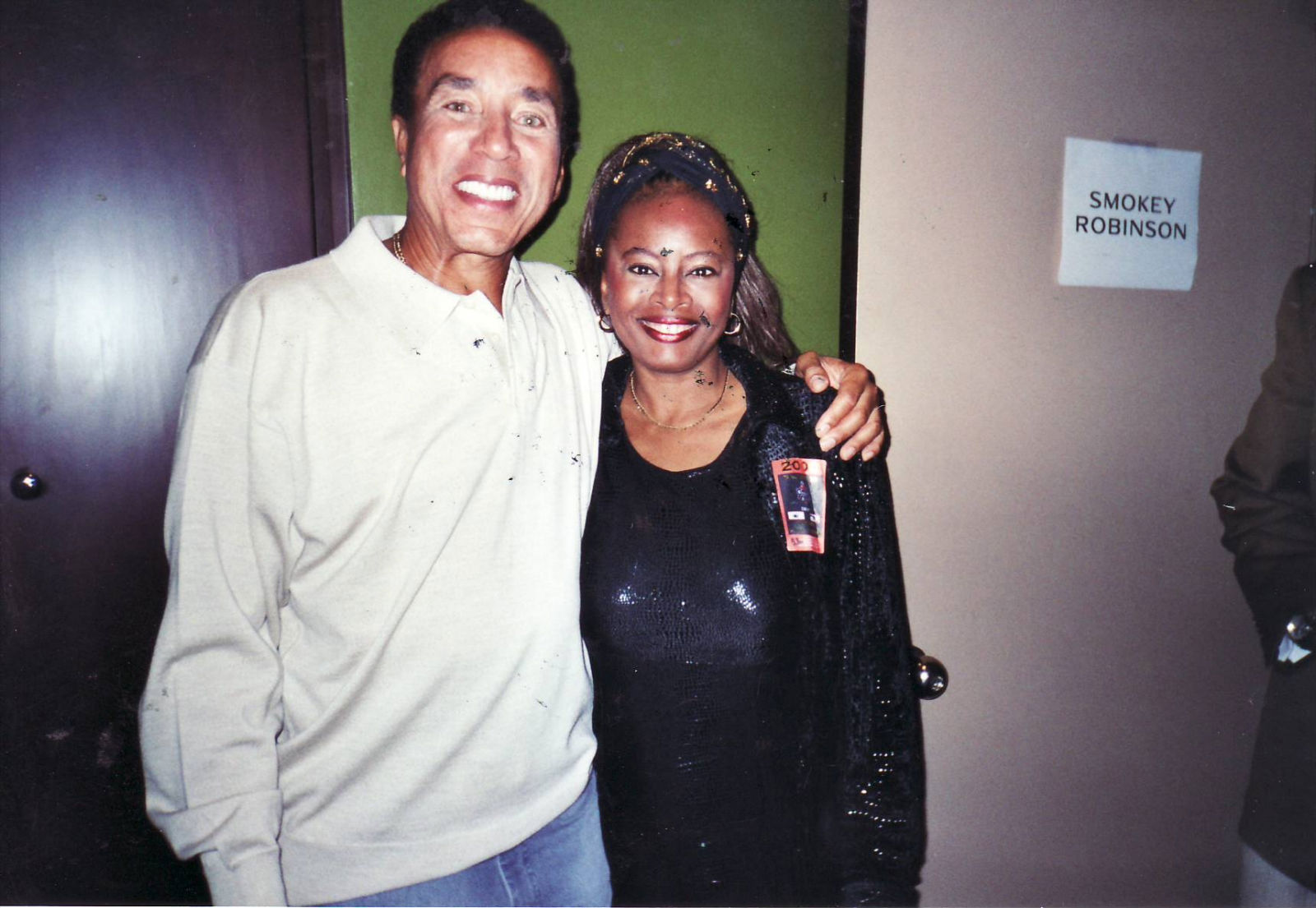 Regina Brown-Ross and Smokey Robinson