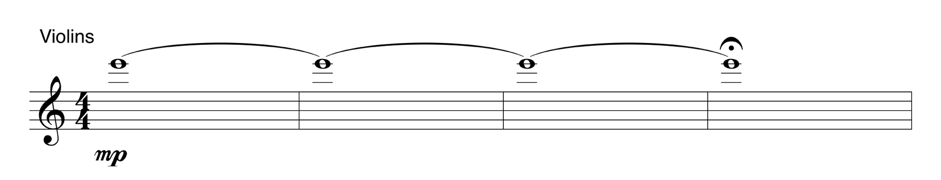 Music arrangement illustrating a wire.