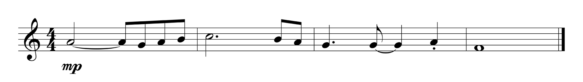 Music arrangement illustrating a circular melodic shape.
