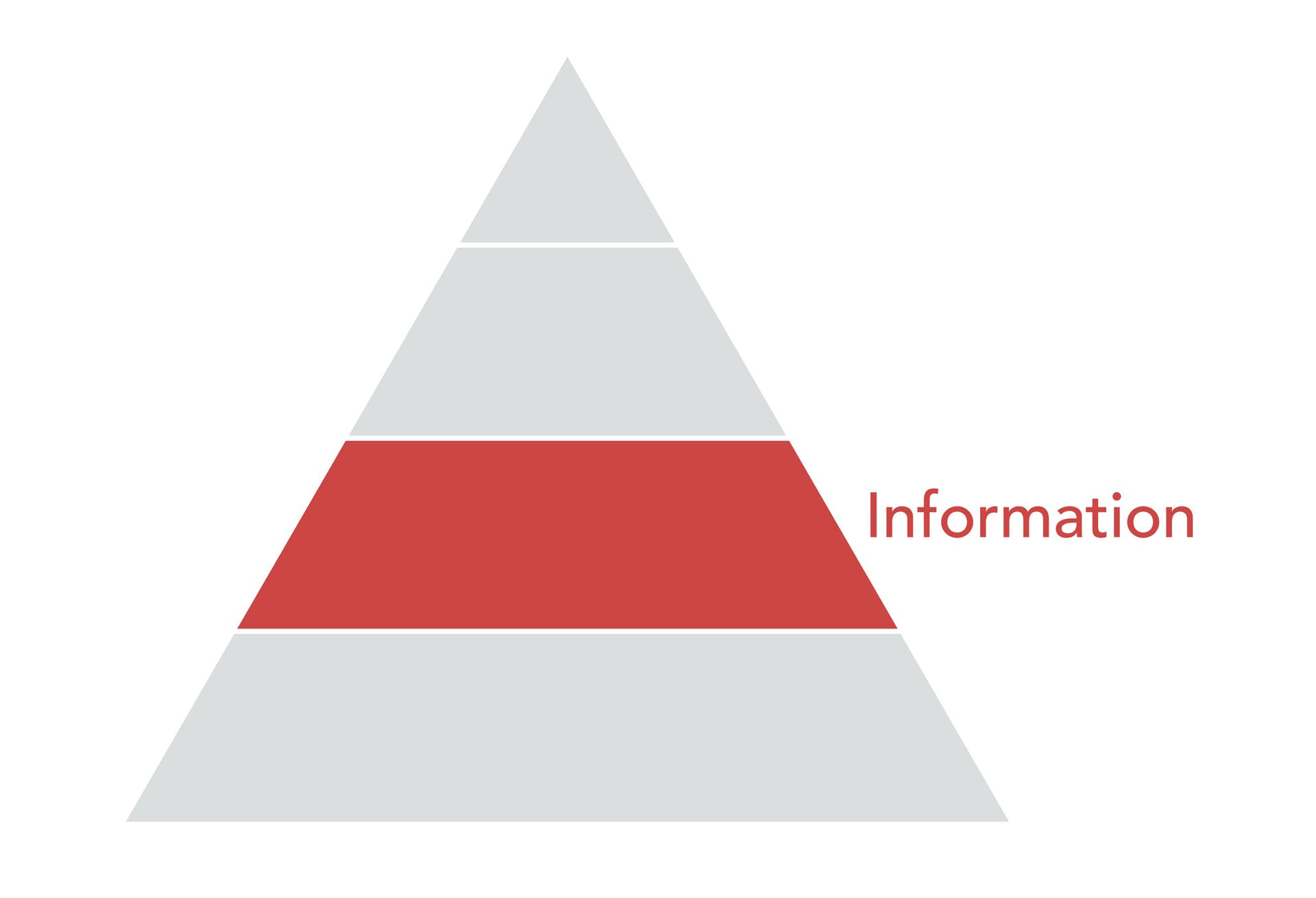 Data Pyramid, information layer.