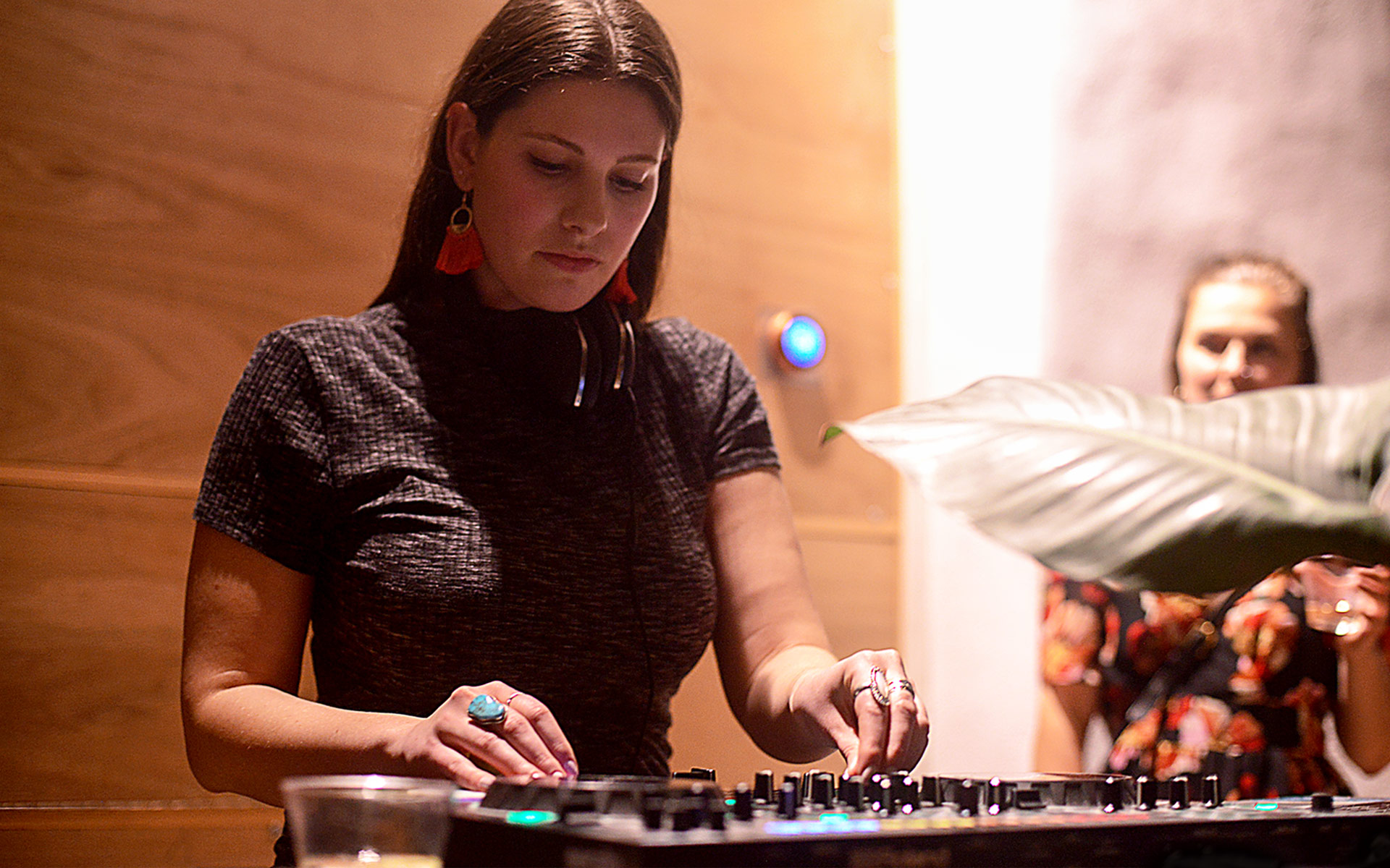 Freesia Towle DJing.