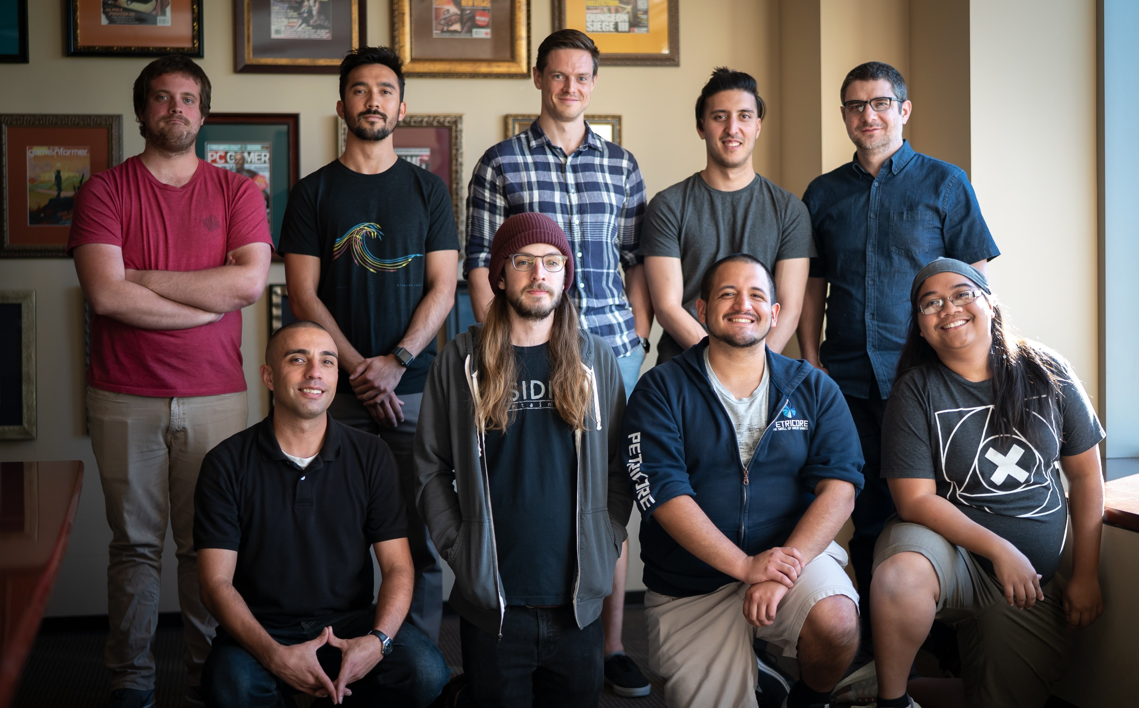Renzo with the Audio Team at Obsidian Entertainment.