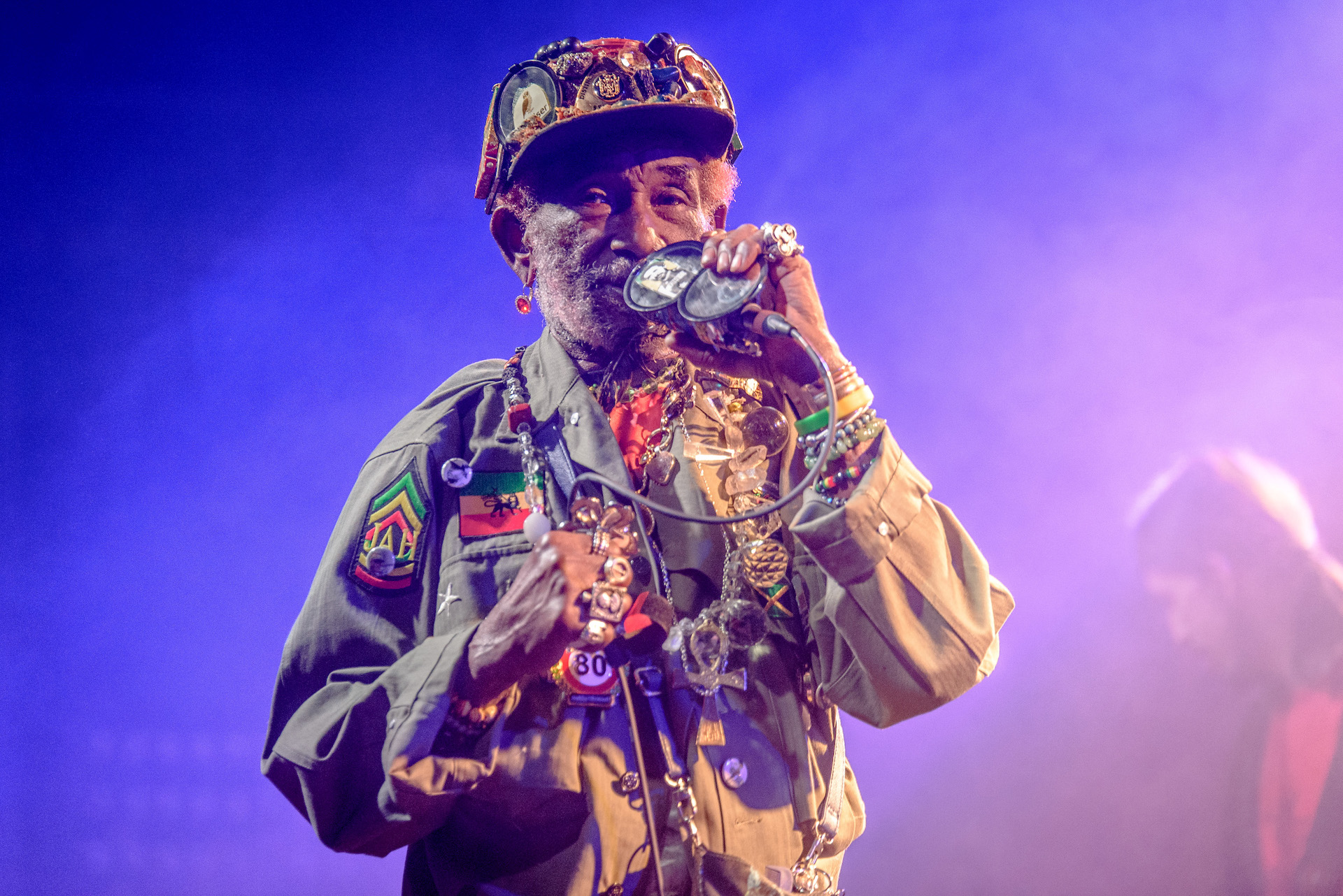"Lee ""Scratch"" Perry is shown performing in 2016."