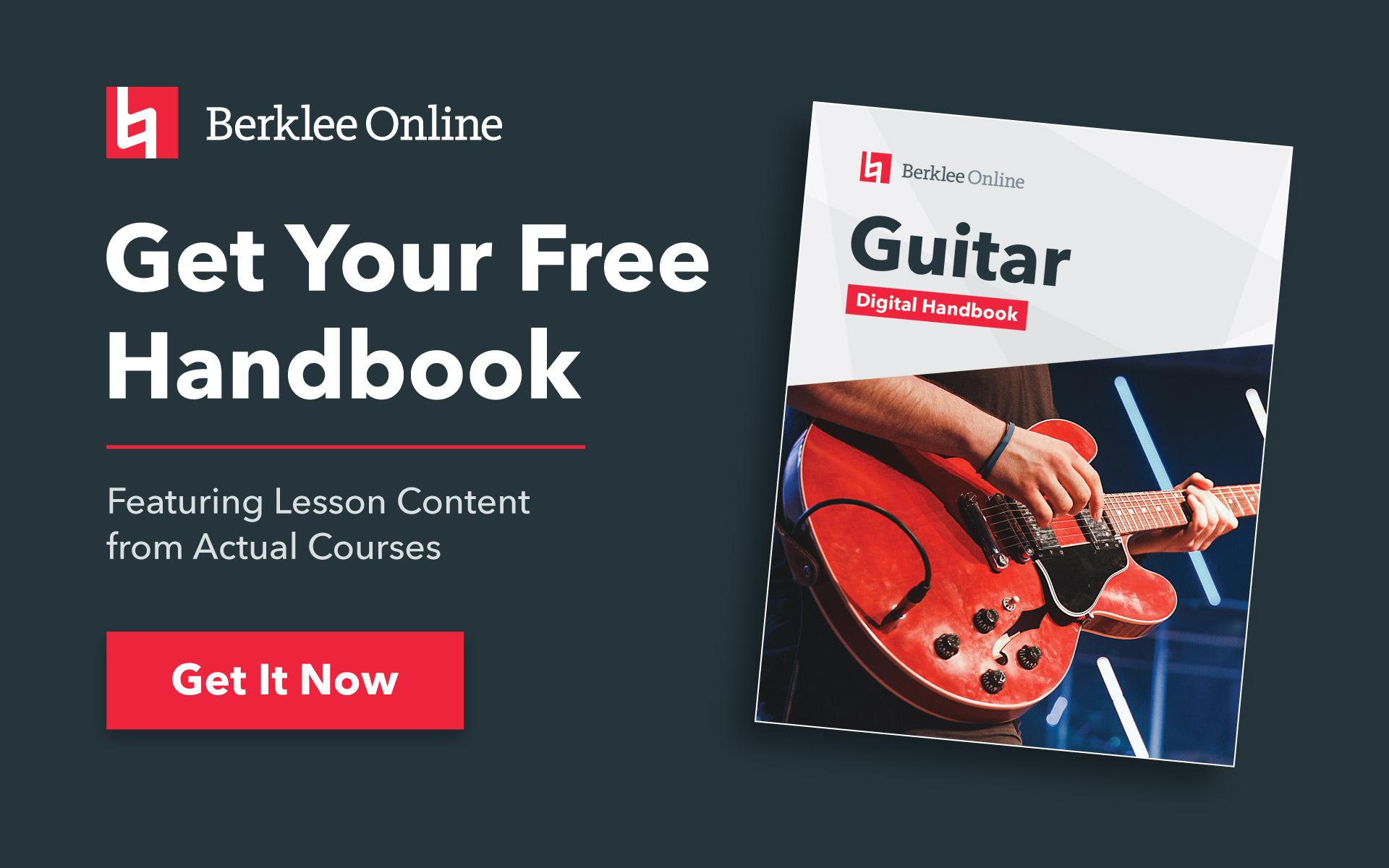 Get your free guitar handbook from Berklee Online.