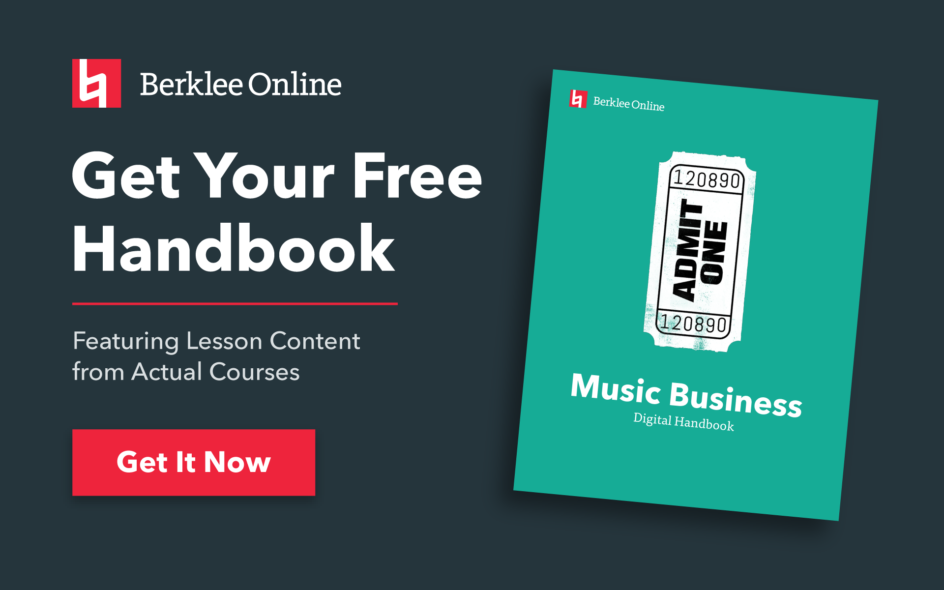 Get your free music business handbook from Berklee Online.