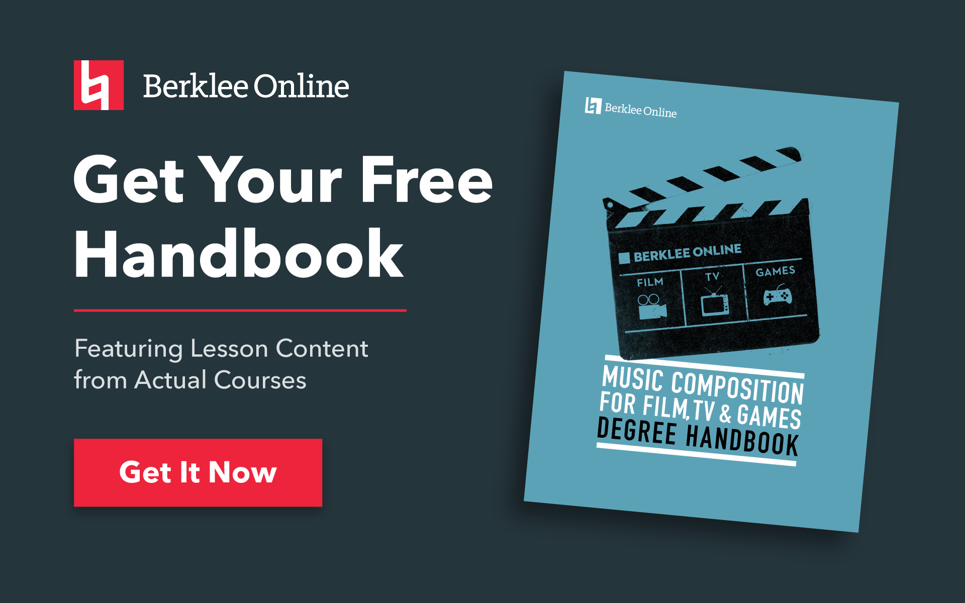 Get your free Scoring for Film, TV, and Games handbook from Berklee Online.