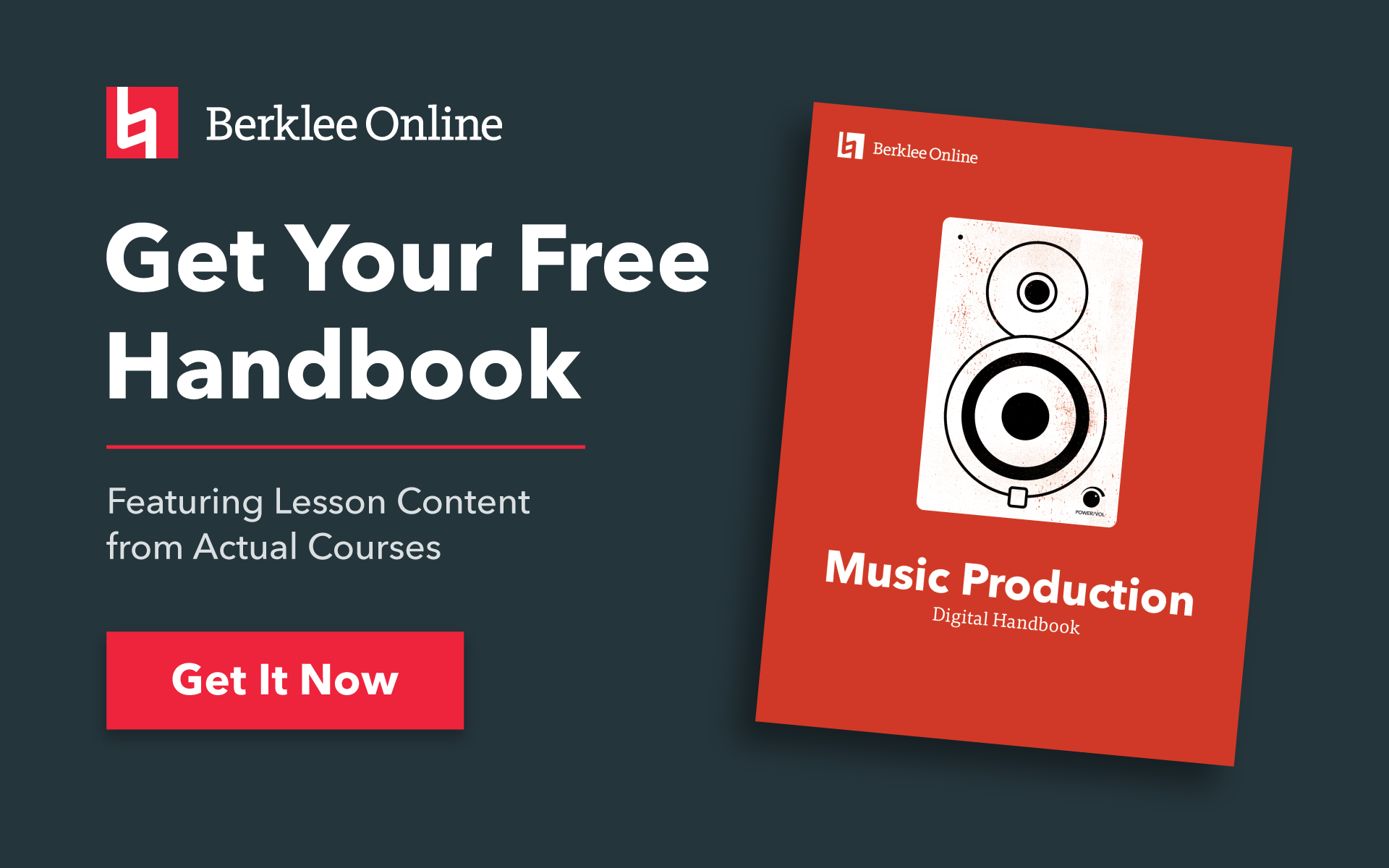 Get your free music production handbook from Berklee Online.