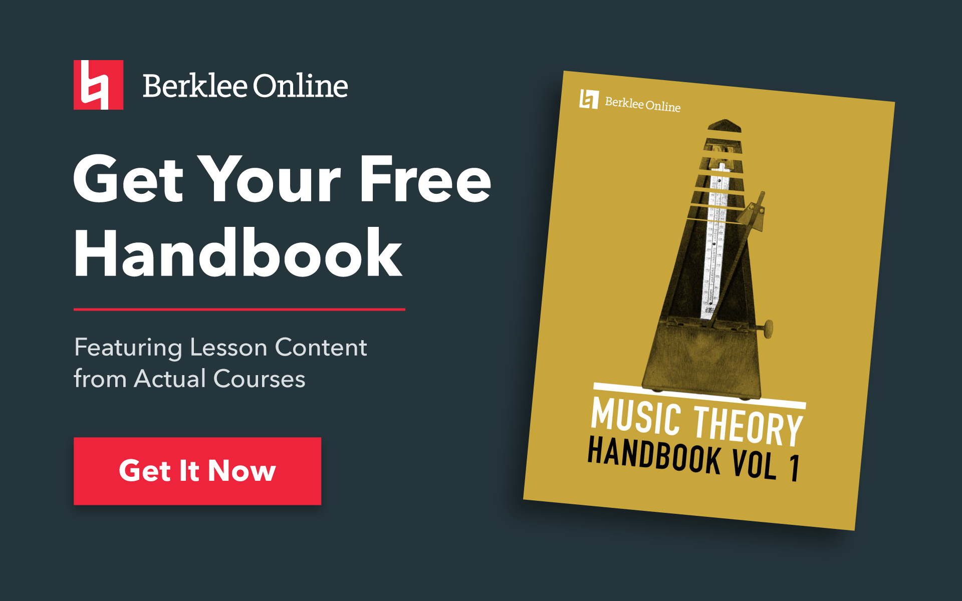 Get your free music theory handbook from Berklee Online.