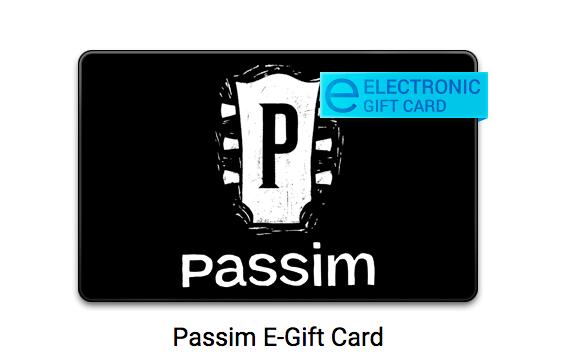Club Passim gift card.