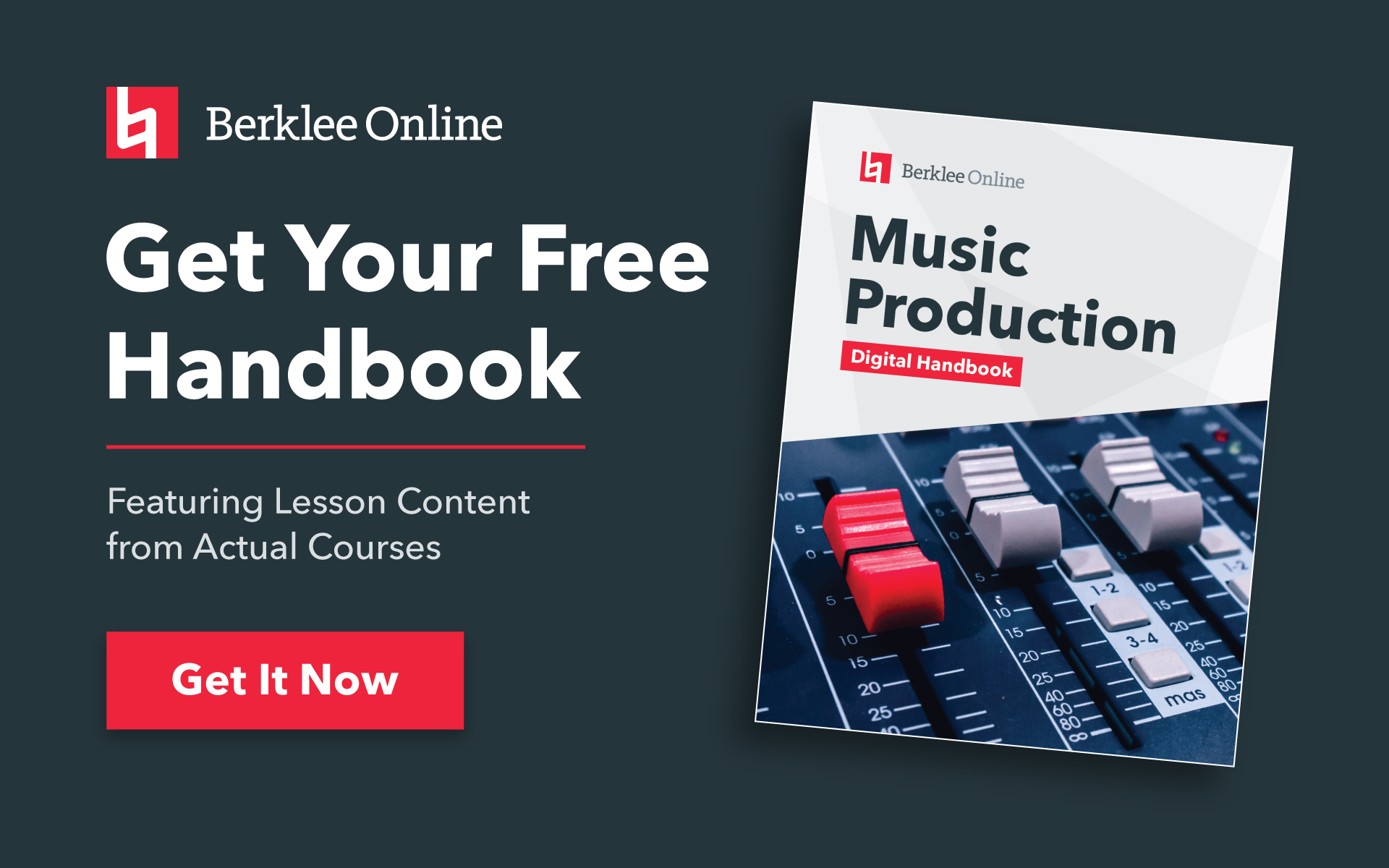 Get your free music production handbook from Berklee Online.