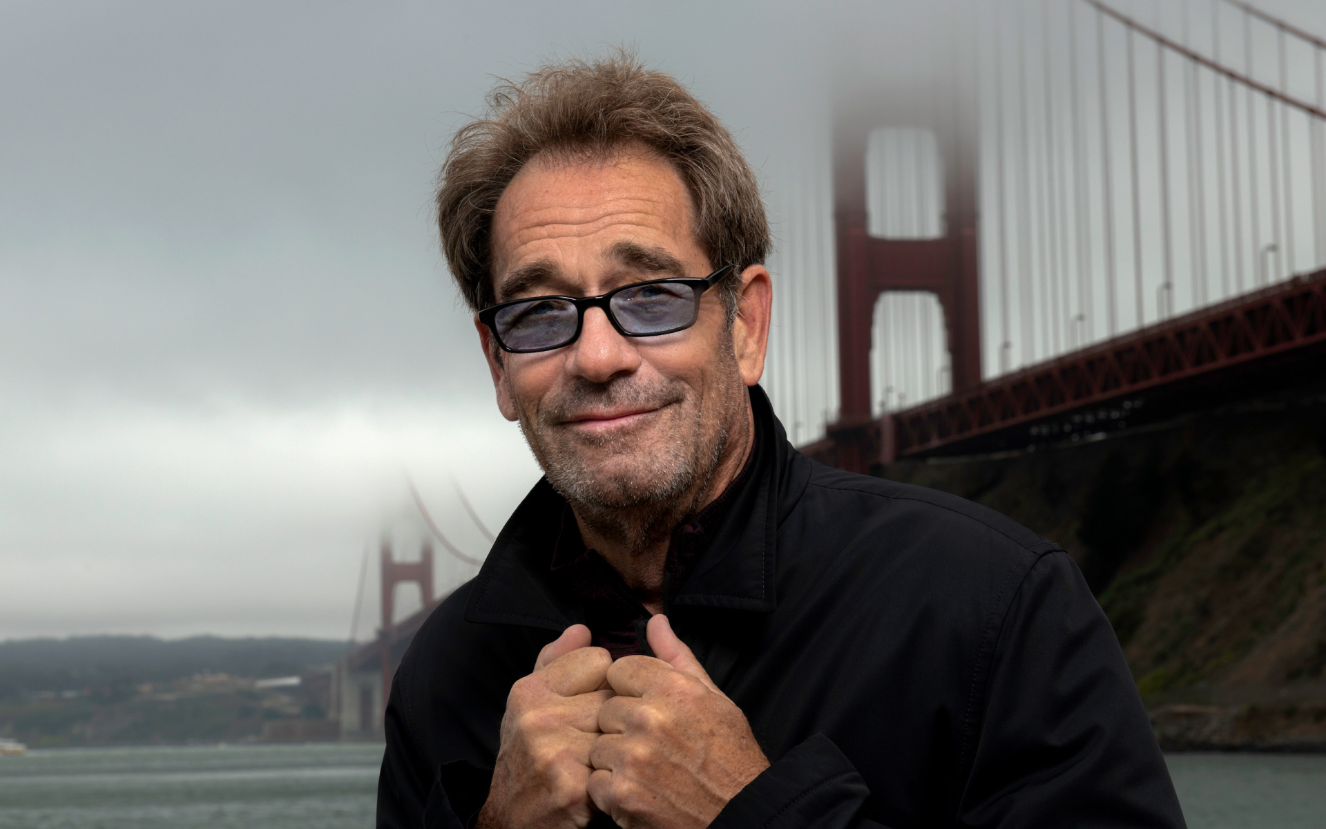 "Huey Lewis is pictured on the cover of his 2020 album, ""Weather."""