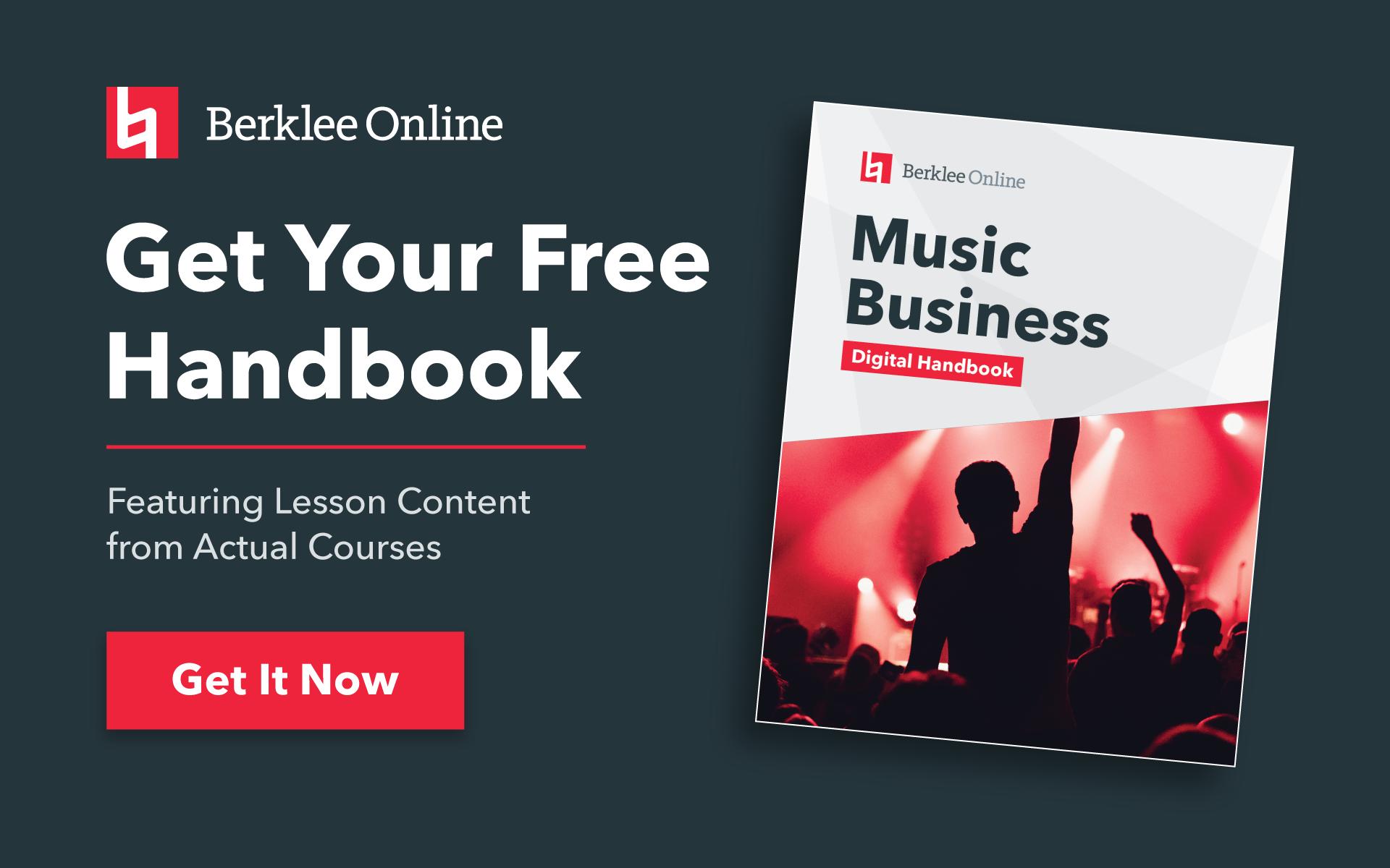 Get your free music business handbook from Berklee Online.